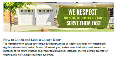 How to Check and Lube a Garage Door - Garage Door Repair Rowland Heights