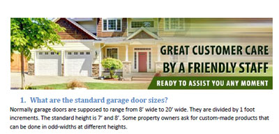 FAQs - Garage Door Repair Rowland Heights