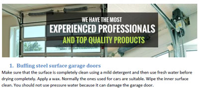 Tips - Garage Door Repair Rowland Heights